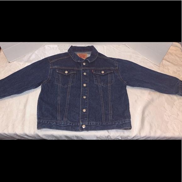 Levi's Classic Trucker Denim Jean jacket Boys 7X